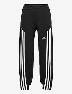 Snap Pants - sports bottoms - black/white