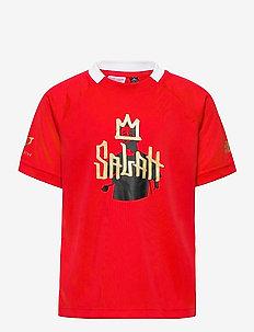 Salah Football Inspired T-Shirt - korte mouwen - vivred/goldmt