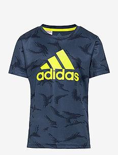Designed To Move Camouflage T-Shirt - kurzärmelige - crenav/syello