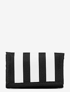Essentials 3-Stripes Wallet - portemonnees - black/black/white