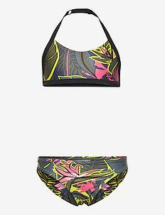 Flower Bikini - bikinis - crenav/black