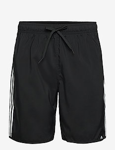 Classic-Length 3-Stripes Swim Shorts - shorts - black/white