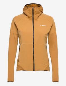 Terrex Skyclimb Fleece Jacket W - collegepaidat ja hupparit - mesa