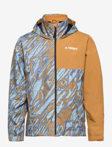 TERREX MULT AOP 2L RAIN JACKET - vestes d'extérieur et de pluie - orbvio/mesa