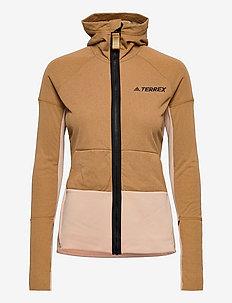 Terrex Zupahike Hooded Fleece Jacket W - friluftsjackor - mesa