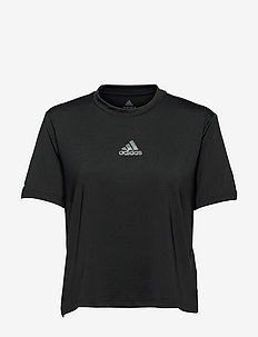 AEROREADY You for You Sport Tee W - t-shirts - black/black