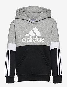 Colorblock Hoodie - hoodies - black/mgreyh/white