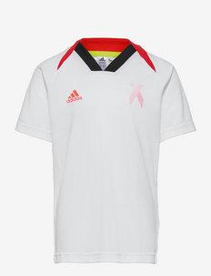 X Aeroready Football-Inspired Jersey - voetbalshirts - white/red/black