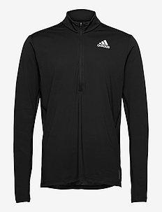 Own The Run 1/2 Zip Long Sleeve Tee - långärmade tröjor - black