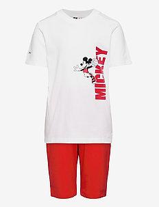 Disney Mickey Mouse Summer Set - dresy & zestaw 2 szt - white/vivred