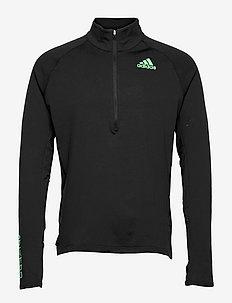 Adizero Warm 1/2 Zip Long Sleeve Tee - långärmade tröjor - black