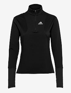 Own The Run 1/2 Zip Tee W - langarmshirts - black