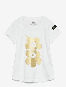 Marimekko Unikko Graphic Tee W - kurzärmelig - white
