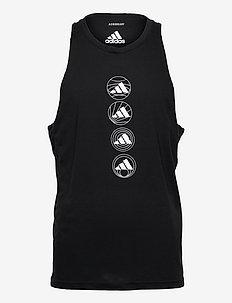 Run Logo Tank Top - sporttoppar - black