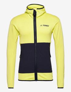 Terrex Tech Fleece Light Hooded Hiking Jacket - fleece - pulyel/legink