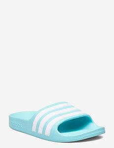 Adilette Aqua Slides - pool sliders - pulaqu/ftwwht/pulaqu