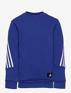 Future Icons 3-Stripes Crew Sweatshirt - sweatshirts - boblue/white