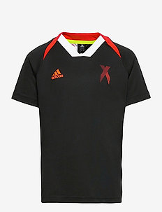 AEROREADY x Football-Inspired Jersey - voetbalshirts - black/red/white