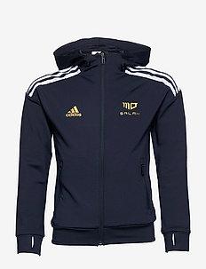 Salah AEROREADY Football-Inspired Full-Zip Hoodie - hoodies - legink/white/goldmt