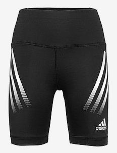 Believe This AEROREADY 3-Stripes High Waist Short Tights W - sportsshorts - black/white
