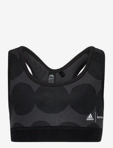 Marimekko Räsymatto Primegreen Low Support Sports Bra W - nacht- & unterwäsche - carbon/black