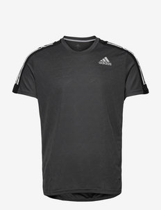 Own The Run 3-Stripes Running Tee - t-shirts - gresix/black/white