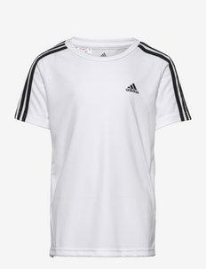 Designed To Move 3-Stripes Tee - korte mouwen - white/black