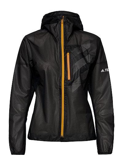 W Agr Rain J Outerwear Sport Jackets Schwarz ADIDAS PERFORMANCE