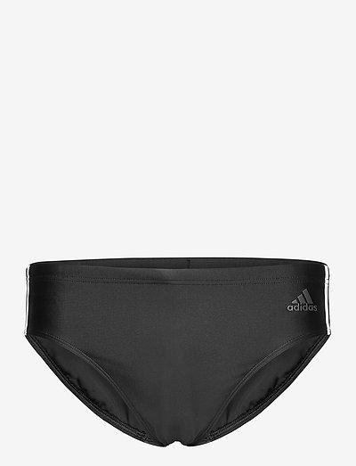 Fitness 3-Stripes Swim Trunks - briefs - black/white