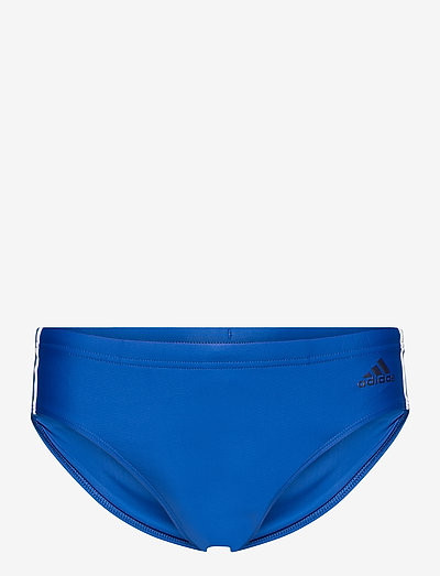Fitness 3-Stripes Swim Trunks - briefs - croyal/white