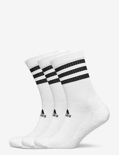 3-Stripes Cushioned Crew Socks 3 Pairs - vanliga strumpor - 000/white