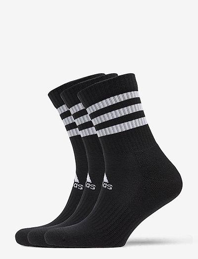 3-Stripes Cushioned Crew Socks 3 Pairs - almindelige strømper - 000/black