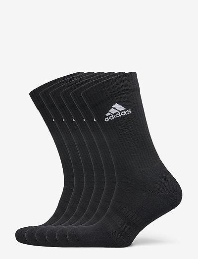 Cushioned Crew Socks 6 Pairs - almindelige strømper - black/black/black/bla