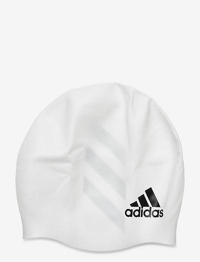 3-Stripes Swimming Cap - badtillbehör - white/black