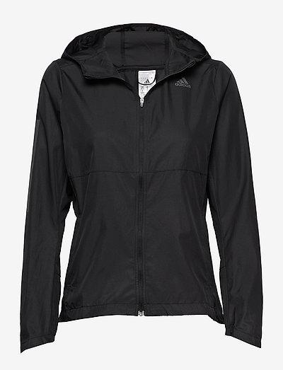 Own the Run Hooded Wind Jacket W - training jackets - black