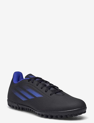 X Speedflow.4 Turf Boots  Q3Q4 21 - fotbollsskor - cblack/sonink/syello