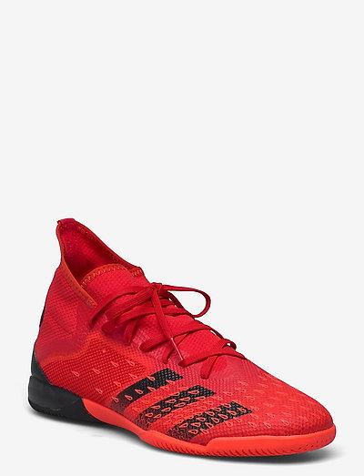 Predator Freak.3 Indoor Boots Q3Q4 21 - fotbollsskor - red/cblack/solred