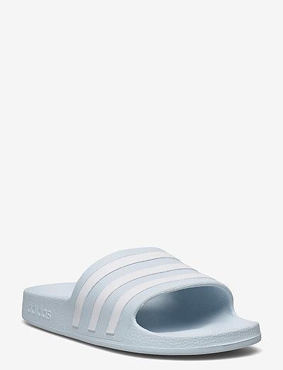 Adilette Aqua Slides W - sko - halblu/ftwwht/halblu