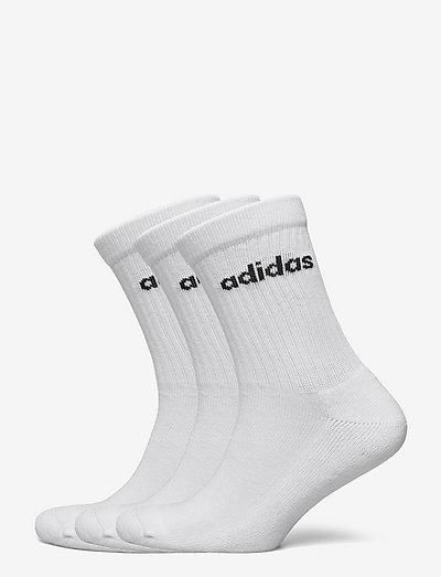 Half-Cushioned Crew Socks 3 Pairs - vanliga strumpor - white/black