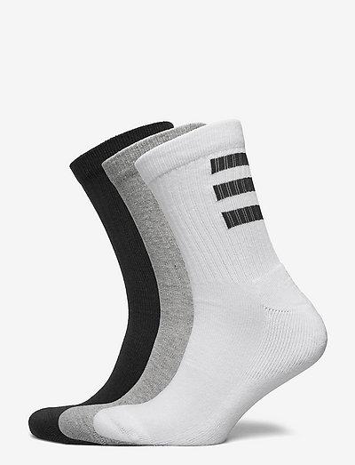 3-Stripes Half-Cushioned Crew Socks 3 Pairs - almindelige strømper - white/black/mgreyh