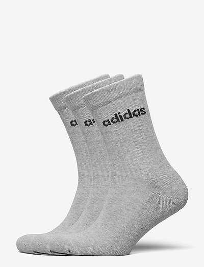 Half-Cushioned Crew Socks 3 Pairs - almindelige strømper - mgreyh/black