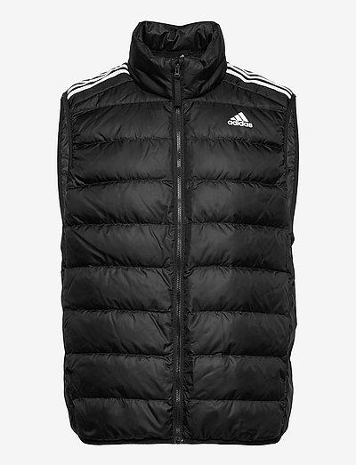 Essentials Light Down Hooded Parka - sportjackor - black