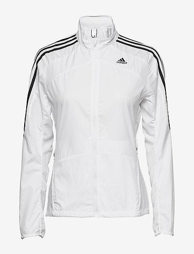 Marathon 3-Stripes Jacket W - sportsjakker - white