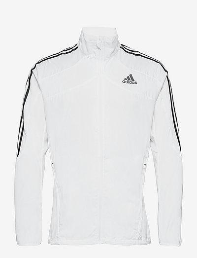 Marathon 3-Stripes Jacket - träningsjackor - white/black