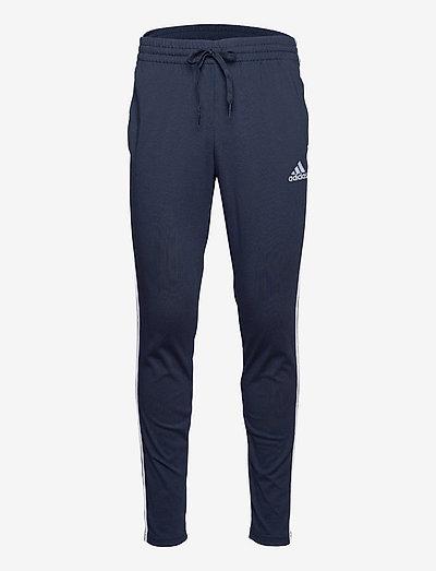 Essentials Single Jersey Tapered 3-Stripes Pants - sweatpants - legink/white