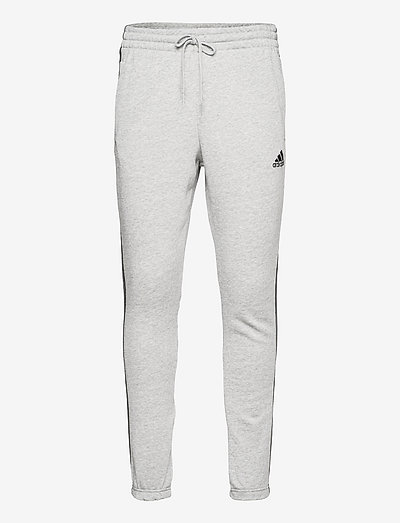 Essentials French Terry Tapered 3-Stripes Pants - sweatpants - mgreyh/black