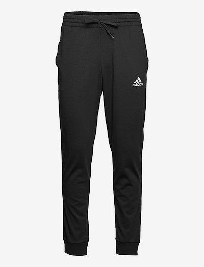 Essentials Single Jersey Tapered Cuff Pants - sweatpants - black