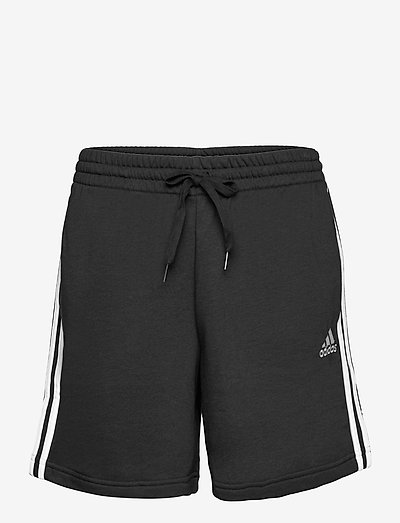 Essentials French Terry 3-Stripes Shorts - casual shorts - black/white