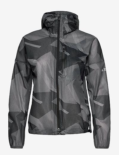 Terrex Agravic Graphic 2.5 Layer Rain Jacket W - jakker og regnjakker - gresix