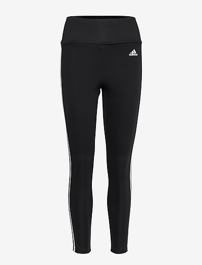 Designed To Move High Waist 3-Stripes 7/8 Tights W - running & training tights - black/white